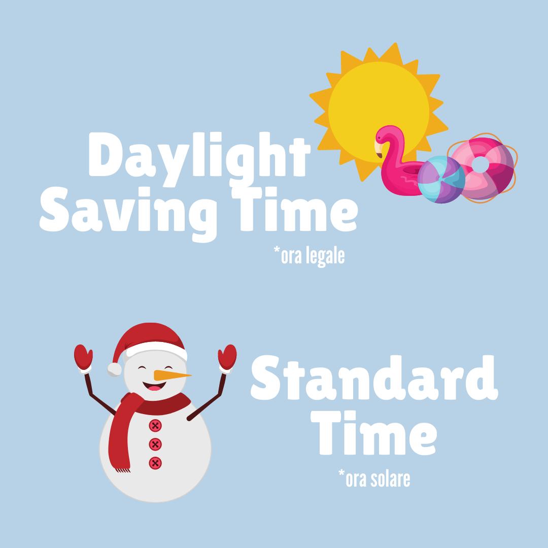 Cambio ora legale Daylight saving time / Standard